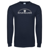 Navy Long Sleeve T Shirt---Arched Football