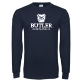 Navy Long Sleeve T Shirt-Cheerleading