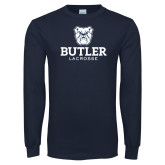 Navy Long Sleeve T Shirt--Lacrosse