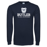 Navy Long Sleeve T Shirt-Club Lacrosse