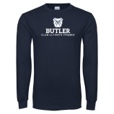 Navy Long Sleeve T Shirt-Club Ultimate Frisbee