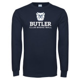 Navy Long Sleeve T Shirt-Club Basketball