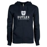 ENZA Ladies Navy Fleece Full Zip Hoodie-Club Lacrosse
