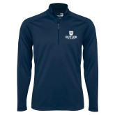 Syntrel Navy Interlock 1/4 Zip-Butler University Stacked Bulldog Head
