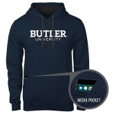 Contemporary Sofspun Navy Heather Hoodie-Butler University