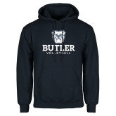 Navy Fleece Hoodie--Volleyball