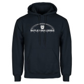 Navy Fleece Hoodie---Arched Football
