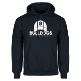 Navy Fleece Hoodie---Baseball Cap Design