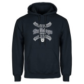 Navy Fleece Hoodie---Softball Seams Designs