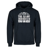 Navy Fleece Hoodie-The Game Honors Toughness