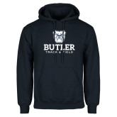 Navy Fleece Hoodie--Track and Field