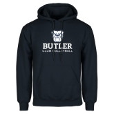 Navy Fleece Hoodie-Club Volleyball