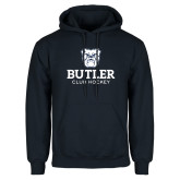 Navy Fleece Hoodie-Club Hockey