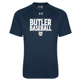 Under Armour Navy Tech Tee---Stacked Block Baseball