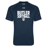 Under Armour Navy Tech Tee---Stacked Block Softball