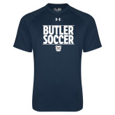 Under Armour Navy Tech Tee---Soccer Ball Design