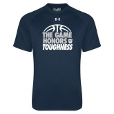Under Armour Navy Tech Tee-The Game Honors Toughness