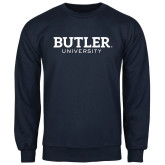 Navy Fleece Crew-Butler University