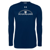 Under Armour Navy Long Sleeve Tech Tee---Arched Football