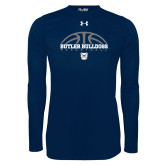 Under Armour Navy Long Sleeve Tech Tee---Arch Basketball Design