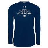 Under Armour Navy Long Sleeve Tech Tee---Arch Basketball Design