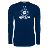 Under Armour Navy Long Sleeve Tech Tee---Volleyball Ball Design
