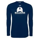 Under Armour Navy Long Sleeve Tech Tee---Baseball Cap Design