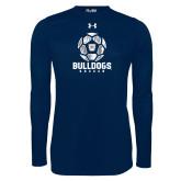 Under Armour Navy Long Sleeve Tech Tee---Soccer Ball Design