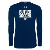 Under Armour Navy Long Sleeve Tech Tee---Soccer Ball Design