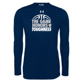 Under Armour Navy Long Sleeve Tech Tee-The Game Honors Toughness