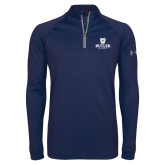 Under Armour Navy Tech 1/4 Zip Performance Shirt-Butler University Stacked Bulldog Head