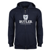 Navy Fleece Full Zip Hoodie-Cheerleading