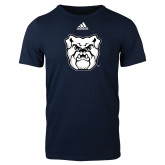 Adidas Navy Logo T Shirt-Bulldog Head