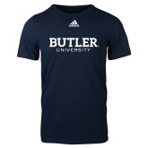Adidas Navy Logo T Shirt-Butler University