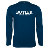 Syntrel Performance Navy Longsleeve Shirt-Butler University