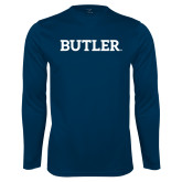 Syntrel Performance Navy Longsleeve Shirt-Butler