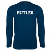 Performance Navy Longsleeve Shirt-Butler