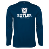 Performance Navy Longsleeve Shirt--Football