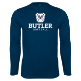 Performance Navy Longsleeve Shirt--Softball