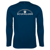 Syntrel Performance Navy Longsleeve Shirt---Arched Football