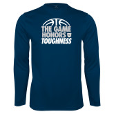 Performance Navy Longsleeve Shirt-The Game Honors Toughness