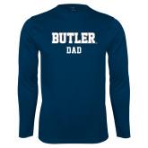 Performance Navy Longsleeve Shirt-Dad