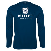 Performance Navy Longsleeve Shirt--Track and Field