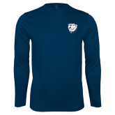 Performance Navy Longsleeve Shirt-White Tag Trip