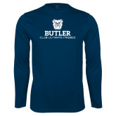 Performance Navy Longsleeve Shirt-Club Ultimate Frisbee
