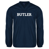 V Neck Navy Raglan Windshirt-Butler