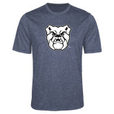 Performance Navy Heather Contender Tee-Bulldog Head