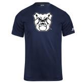 Russell Core Performance Navy Tee-Bulldog Head