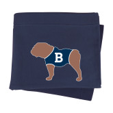 Navy Sweatshirt Blanket-Ivy League