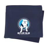 Navy Sweatshirt Blanket-Butler Blue III